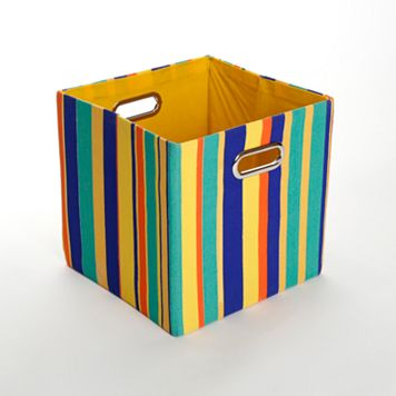 GiggleDots Rusty Striped Folding Storage Bin