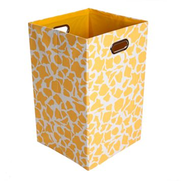 Modern Littles Rusty Giraffe Folding Laundry Bin