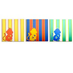 Modern Littles 3-pc. Rusty Monkey Wall Art Set