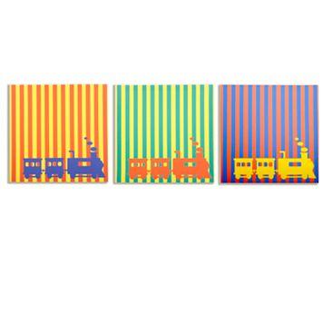 Modern Littles 3-pc. Rusty Train Wall Art Set