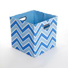 Modern Littles Sky Zigzag Folding Storage Bin
