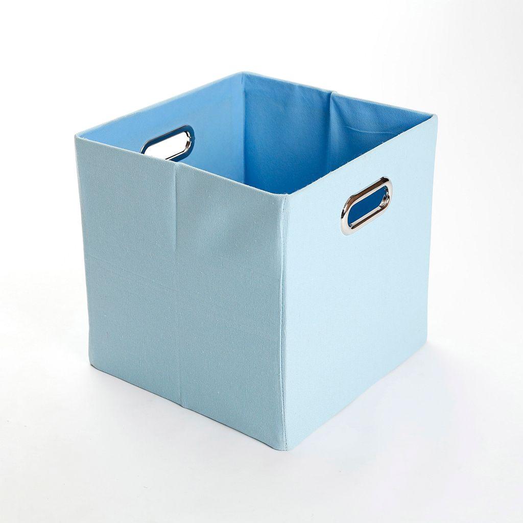 Modern Littles Sky Solid Folding Storage Bin