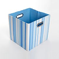 Modern Littles Sky Striped Folding Storage Bin