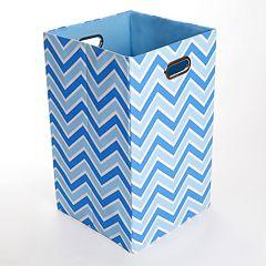 Modern Littles Sky Zigzag Folding Laundry Bin