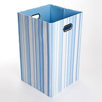 Modern Littles Sky Striped Folding Laundry Bin