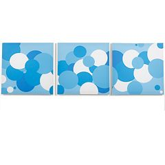 Modern Littles 3 pc Sky Bubbles Wall Art Set