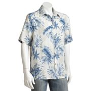 Batik Bay Palm Tree Casual Button-Down Shirt - Big and Tall