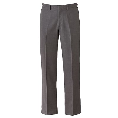 Van Heusen Traveler Straight-Fit No-Iron Performance Flat-Front Pants