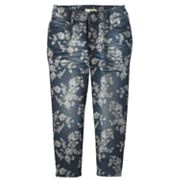 Mudd Floral Denim Capris - Girls Plus