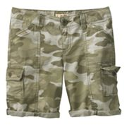 Mudd Camouflage Cargo Bermuda Shorts - Girls Plus