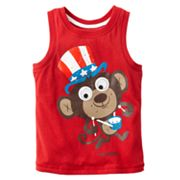 Jumping Beans Patriotic Monkey Googly Eye Tank - Toddler