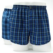 Jockey 2-pk. Classic-Fit Plaid Easy-Care Woven Boxers