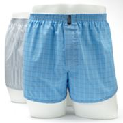 Jockey 2-pk. Classic-Fit Plaid and Striped Easy-Care Woven Boxers