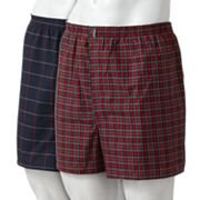 Jockey Classic 2-pk. Plaid Easy-Care Boxers - Big and Tall