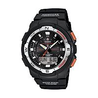 Casio Men's Twin Sensor World Time Compass Analog & Digital Chronograph Watch - SGW500H-1BV