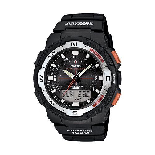 Casio Men's Twin Sensor World Time Compass Analog & Digital Chronograph Watch - SGW500H-1BV