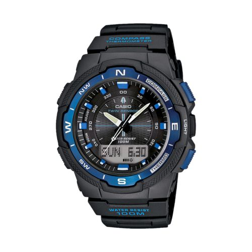 Casio Twin Sensor World Time Analog and Digital Compass and Chronograph Watch - SGW500H-2BV - Men