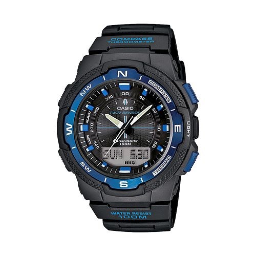 Casio Men's Twin Sensor World Time Analog & Digital Chronograph Watch - SGW500H-2BV