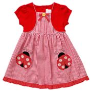 Youngland Mock-Layer Ladybug Seersucker Dress - Toddler