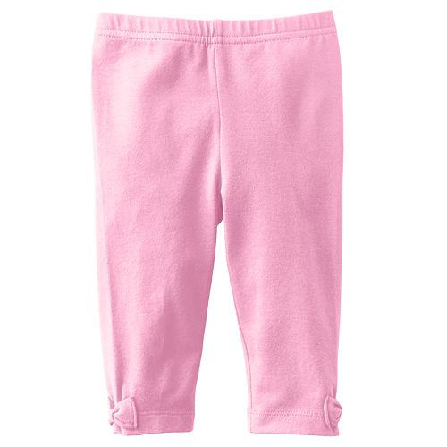 Jumping Beans® Solid Bow Leggings - Baby
