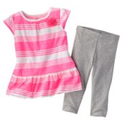 Carter's Striped Babydoll Top and Capri Leggings Set - Toddler