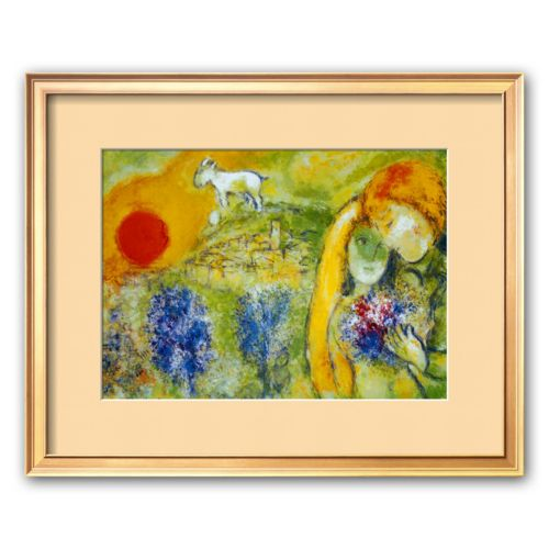 Art.com Amoureux de Vence Framed Art Print by Marc Chagall