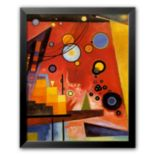 "Art.com ""Heavy Red"" Framed Art Print by Wassily Kandinsky"