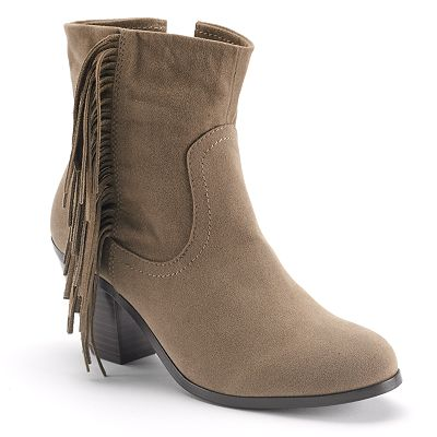 Apt. 9 Fringed Ankle Boots - Women