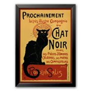 Art.com Chat Noir Framed Art Print by Th�ophile Alexandre Steinlen
