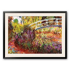 Art.com 'The Japanese Bridge' Framed Art Print by Claude Monet
