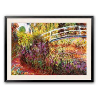 Art.com The Japanese Bridge Framed Art Print by Claude Monet