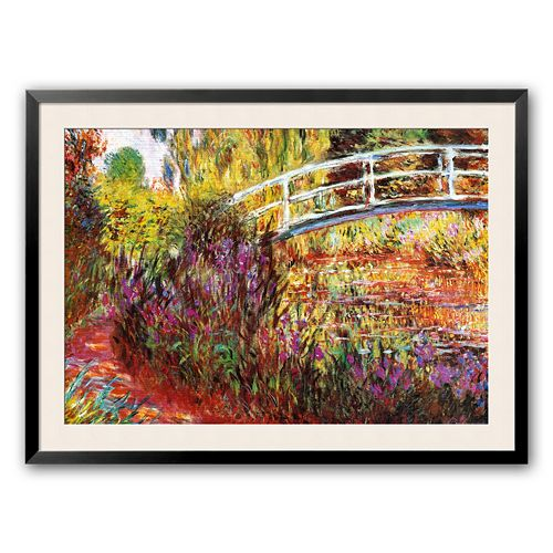 "Art.com ""The Japanese Bridge"" Framed Art Print by Claude Monet"