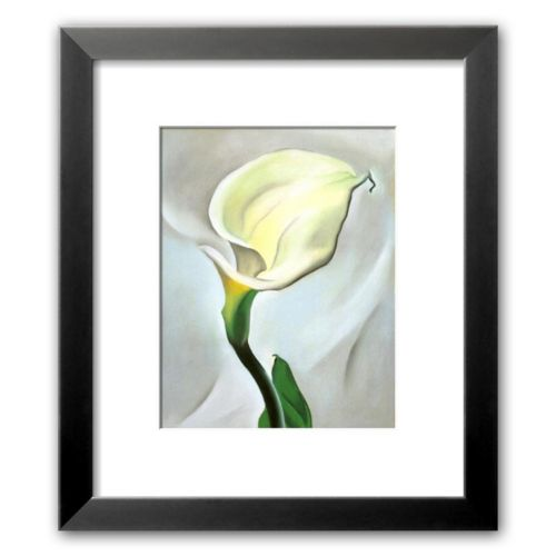 Art.com Calla Lily Turned Away, 1923 Framed Art Print by Georgia O'Keeffe