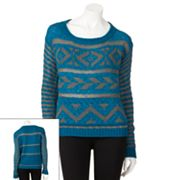 Rewind Fairisle Pullover Sweater - Juniors