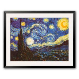 Art.com Starry Night, c.1889 Framed Art Print by Vincent van Gogh