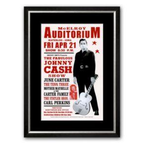 Art.com Johnny Cash in Concert, 1967 Framed Art Print by Dennis Loren