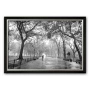 Art.com 'Poet's Walk, Central Park, New York City' Framed Art Print by Henri Silberman