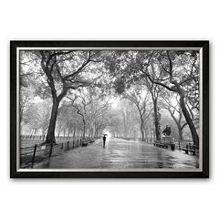 Art.com 'Poet's Walk, Central Park, New York City' Framed Art Print by Henri Silberman