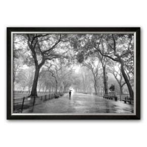 Art.com Poet's Walk, Central Park, New York City Framed Art Print by Henri Silberman