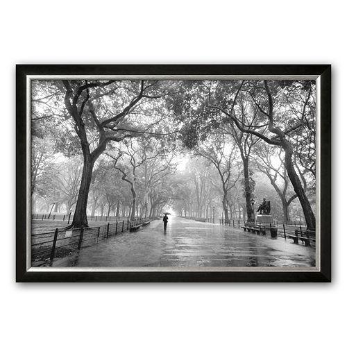 """Art.com """"Poet's Walk, Central Park, New York City"""" Framed Art Print by Henri Silberman"""
