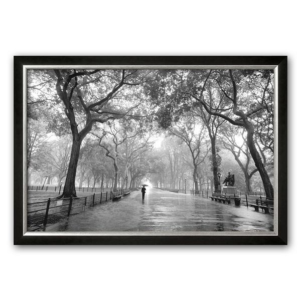 Art Com Poet S Walk Central Park New York City Framed Art Print By Henri Silberman