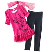 Disney Mickey Mouse and Friends Minnie Mouse Hi-Low Tunic Set - Girls 4-6x