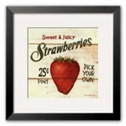 Art.com Sweet and Juicy Strawberries Framed Art Print by David Carter Brown