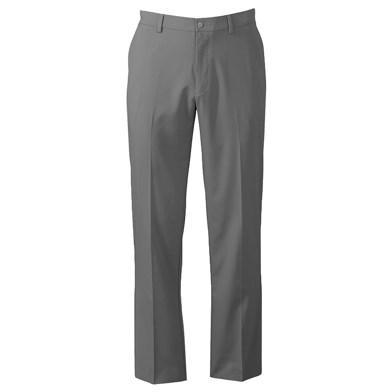 Grand Slam Slim-Fit Performance Easy-Care Flat-Front Pants