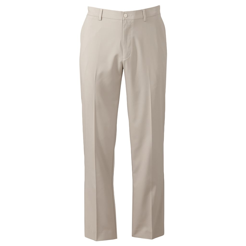 Men's Grand Slam Slim-Fit Performance Easy-Care Flat-Front Pants