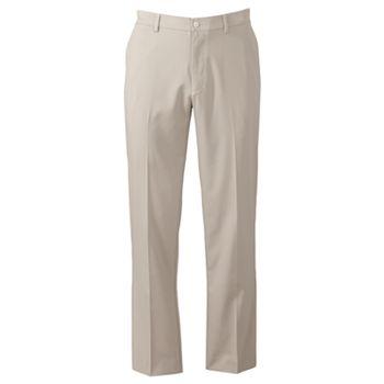 Grand Slam Flat-Front Mens Pants