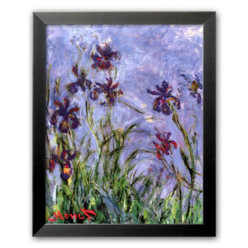 Art.com Irises Framed Art Print by Claude Monet