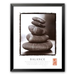 Art.com Balance: Rocks Framed Art Print