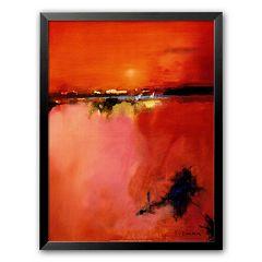 Art.com 'Orange Horizon' Medium Framed Art Print by Peter Wileman