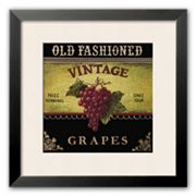 Art.com Vintage Grapes Framed Art Print by Kimberly Poloson